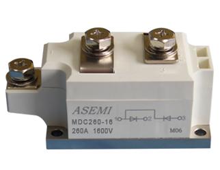 MDC260-16,MDC260-12,MDC260-10,MDC260-08,  ASEMI单臂串联整流模块