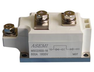 MSCD500-16,MSCD500-12,MSCD400-16,MSCD400-12,  ASEMI单臂串联整流模块
