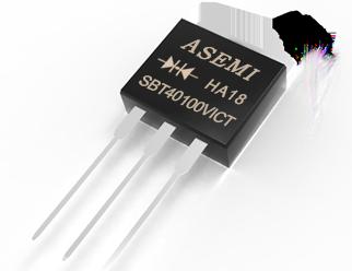 SBT40100VICT,SBT4060VICT,SBT4045VICT, ASEMI低压降肖特基管